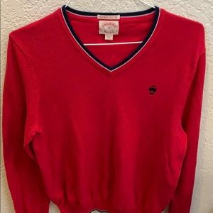 Beautiful Brooks Brothers V-neck sweater supima